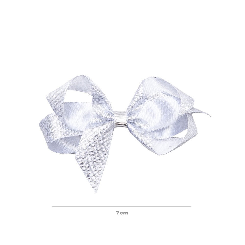 Laço Lurex Prata 7cm