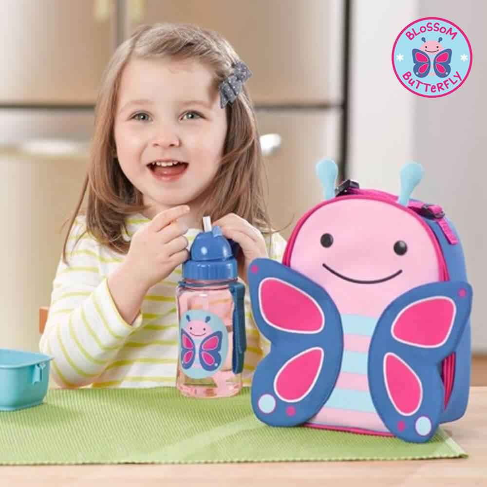 Lancheira Térmica Infantil Borboleta Para Meninas Volta às Aulas