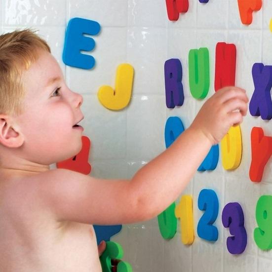 Letrinhas e Números para Banho Munchkin
