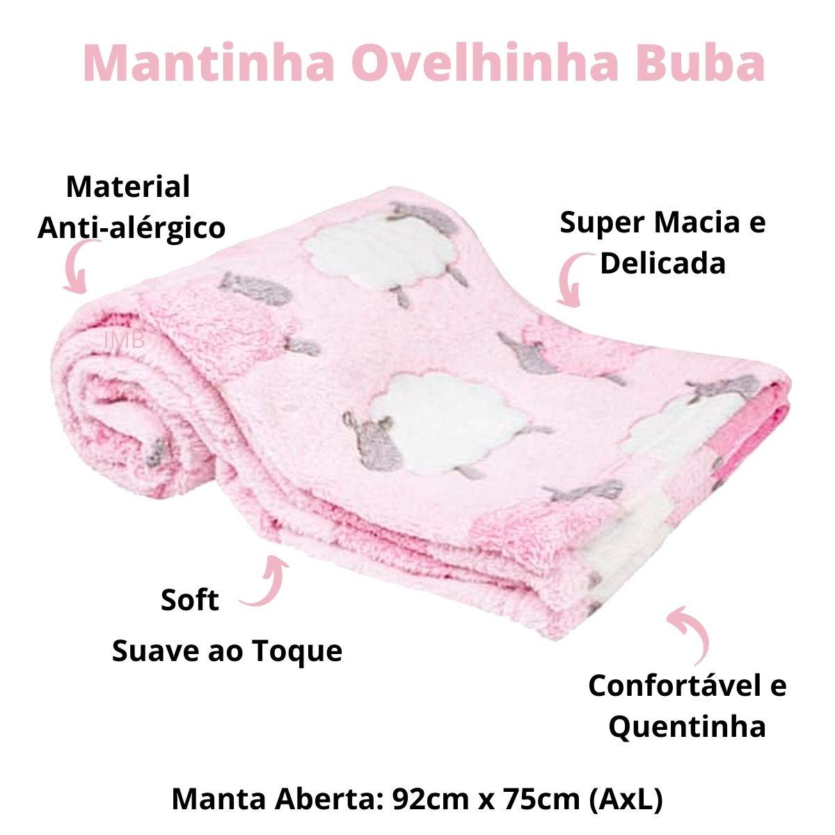 Manta De Bebê Mantinha Soft Anti-alérgica Ovelhinha Rosa