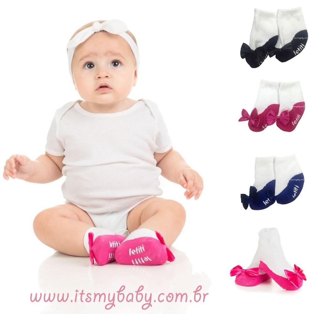 Meia Infantil Sophia Pink Letiti