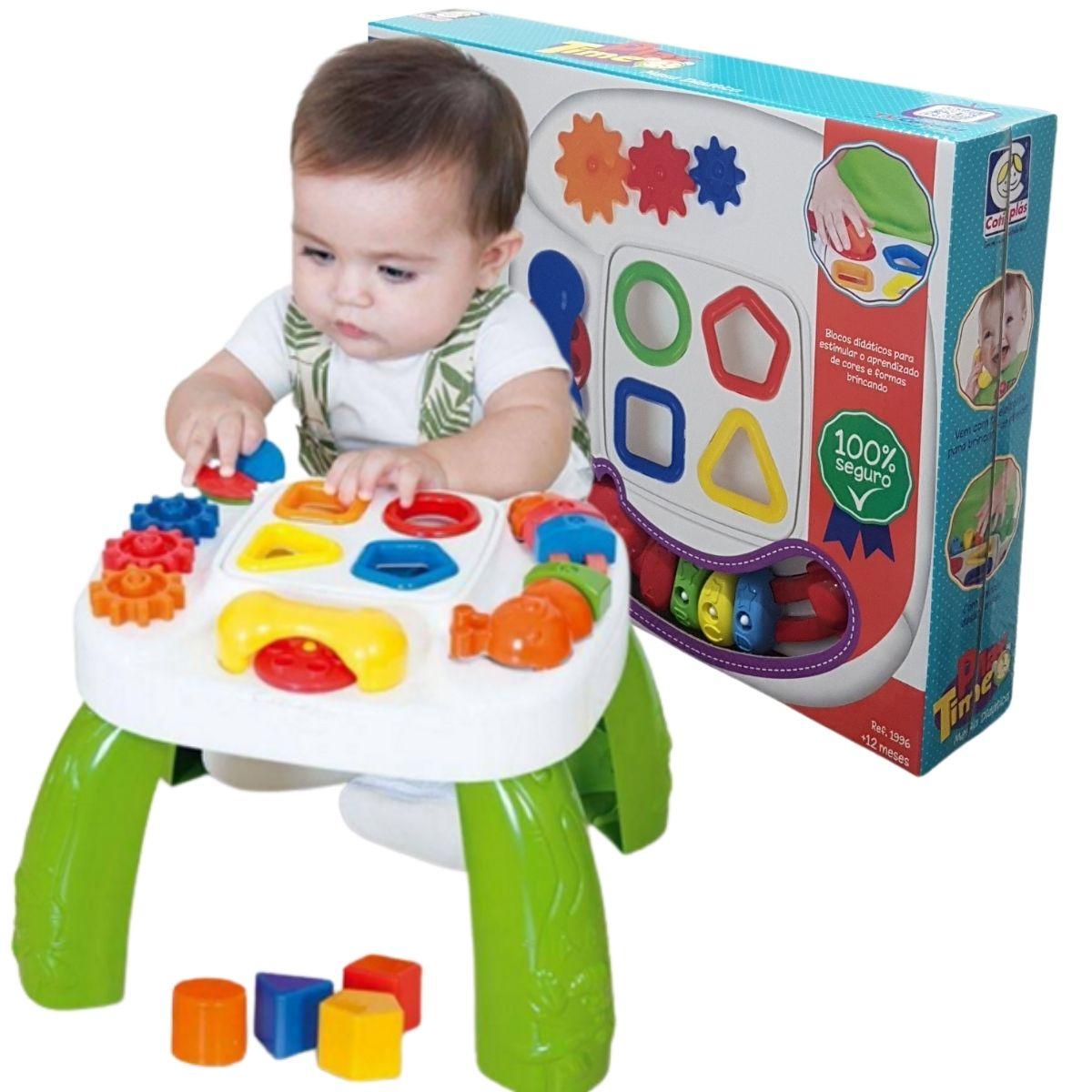 Mesa Didática Infantil Mesinha Educativa Colorida Cotiplás