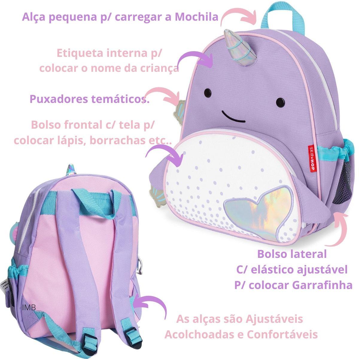 Mochila Zoo Baleia Narval Skip Hop Infantil Importada Original