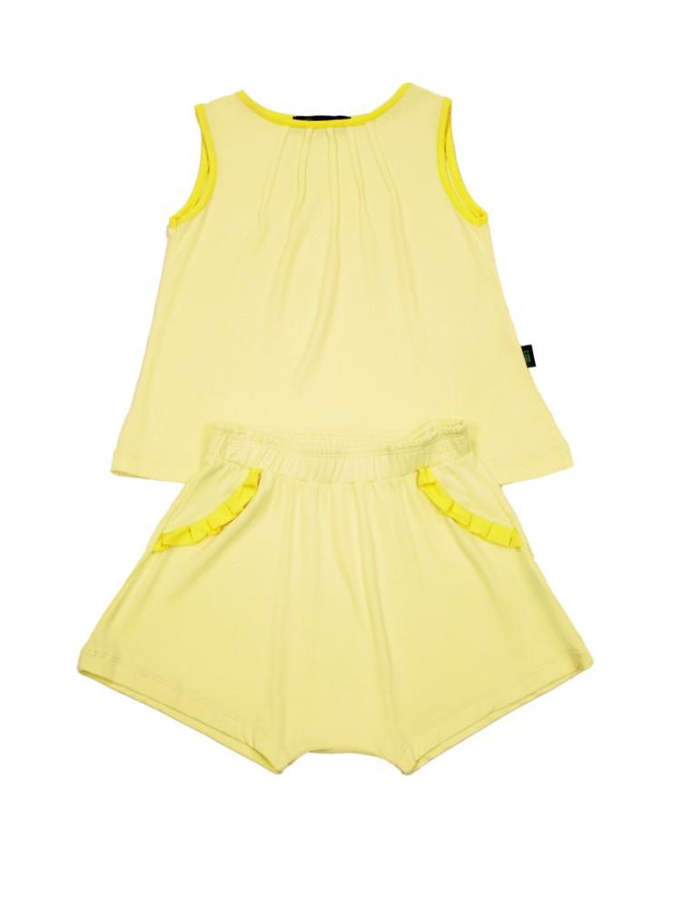 Pijama Infantil Feminino Pernille Amarelo Gumii