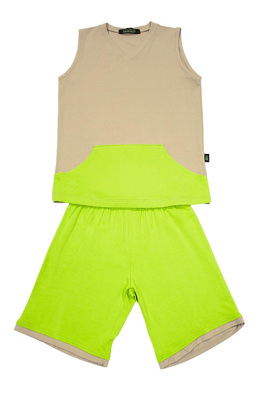 Pijama Infantil Masculino Thor Areia com Verde Limão Gumii