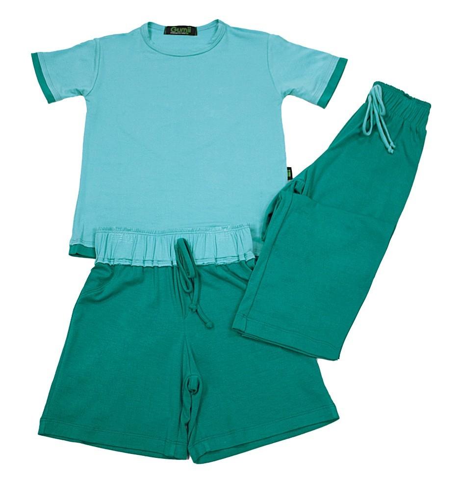 Pijama Toke Azul com Verde Gumii