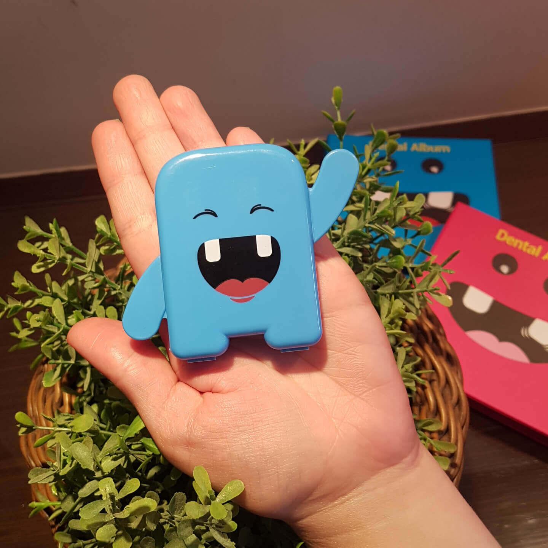 kit  2 Porta Dente De Leite Dentinhos Criança Feliz Azul e Rosa