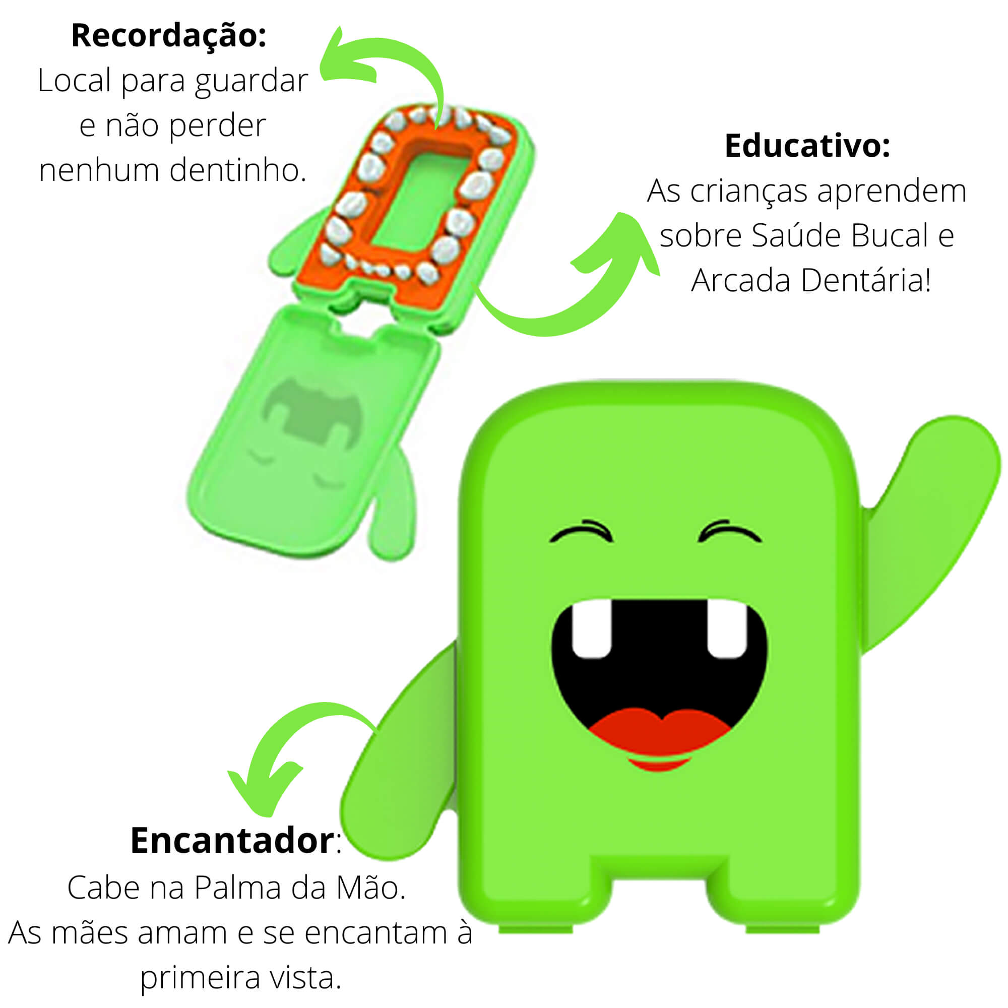 Kit Fada do Dente Verde Angie by Angelus