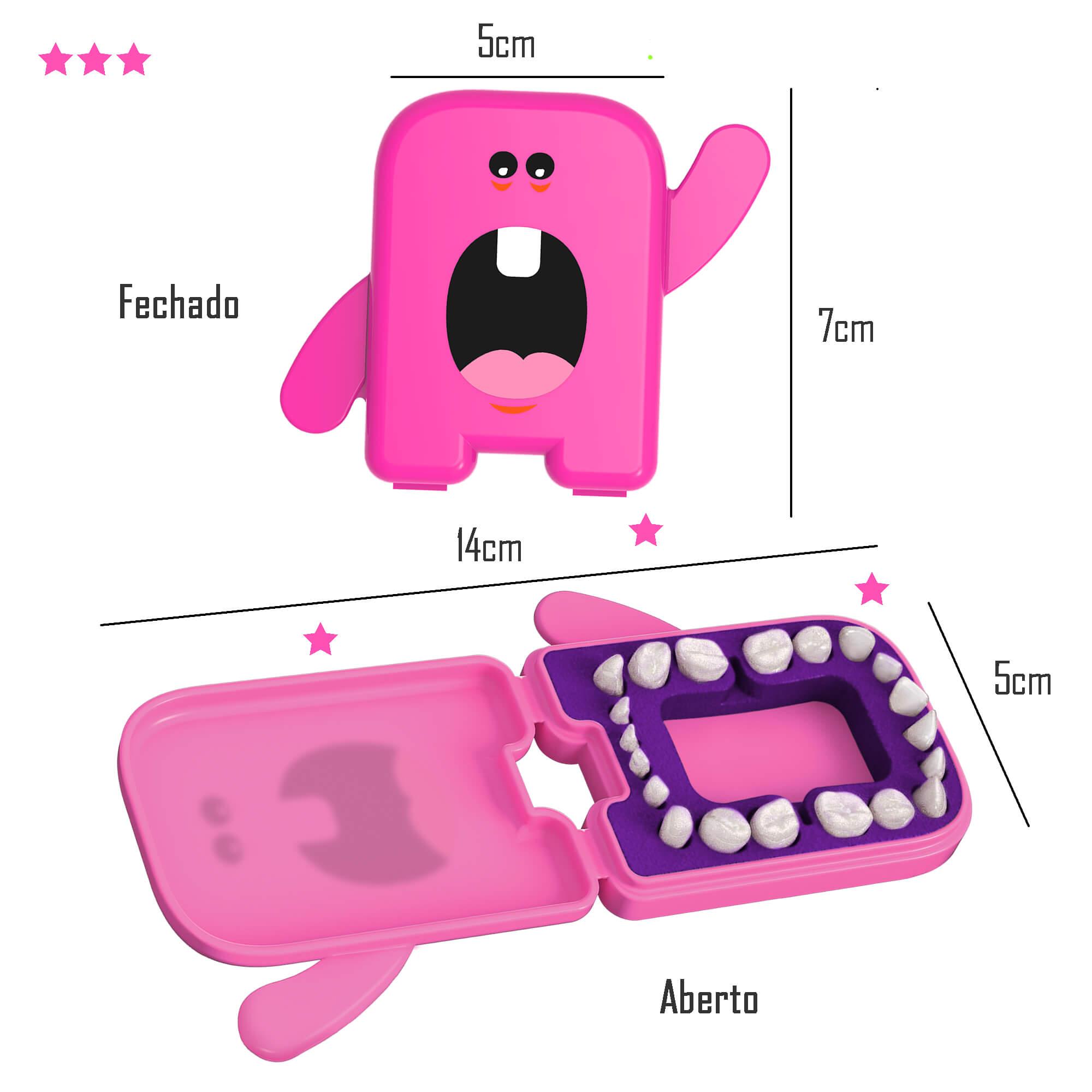 Porta Dentinhos de Leite Rosa Angie by Angelus