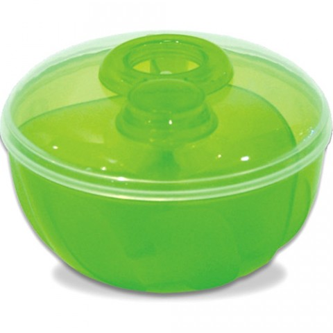 Porta Dosador de Leite Em Pó com 3 Divisórias Verde Munchkin