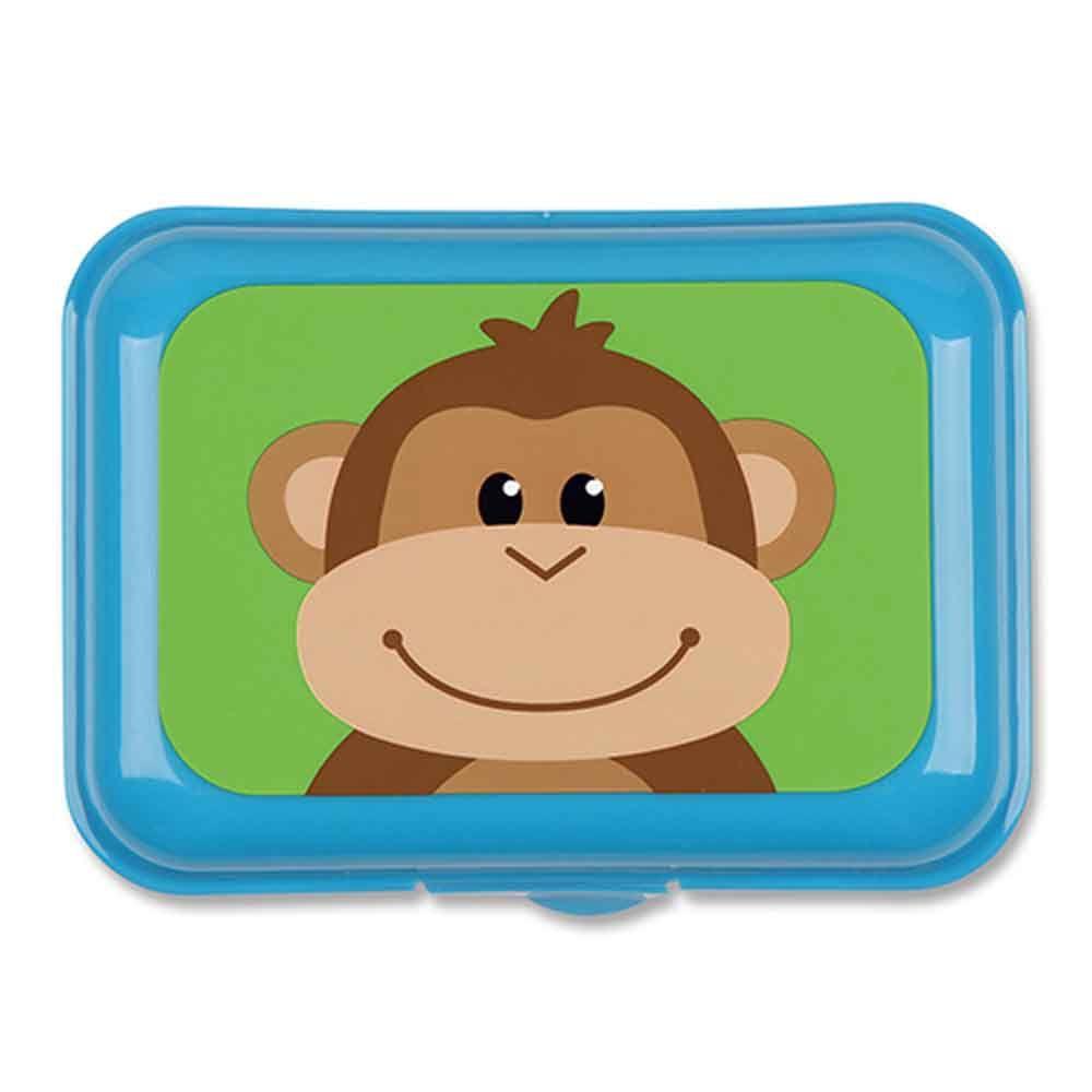 Porta Lanche Marmitinha Azul Macaco Stephen Joseph