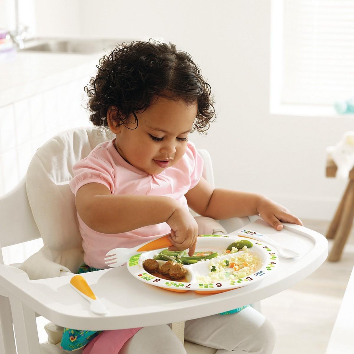 Prato Infantil com Divisórias - Branco Avent