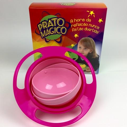 Prato Mágico 360º Graus Para Crianças - Cor Rosa - Prato Magico