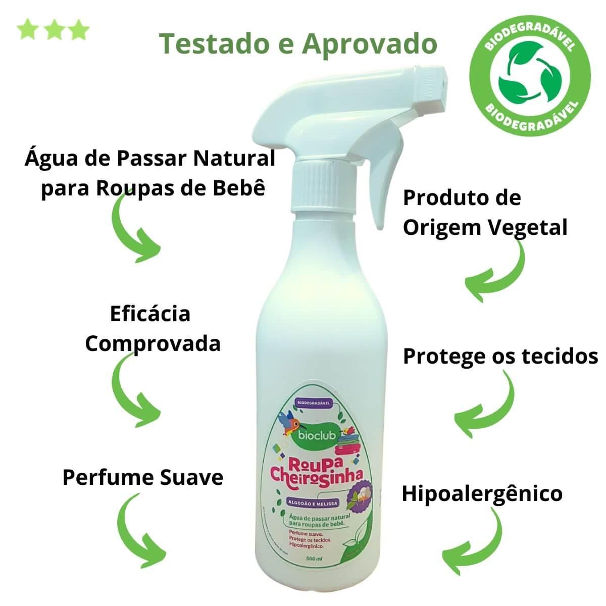 Roupa Cheirosinha Algodão e Melissa Bioclub® 500ml