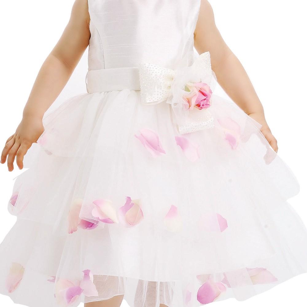 Vestido Festa Com Pétalas de Rosa