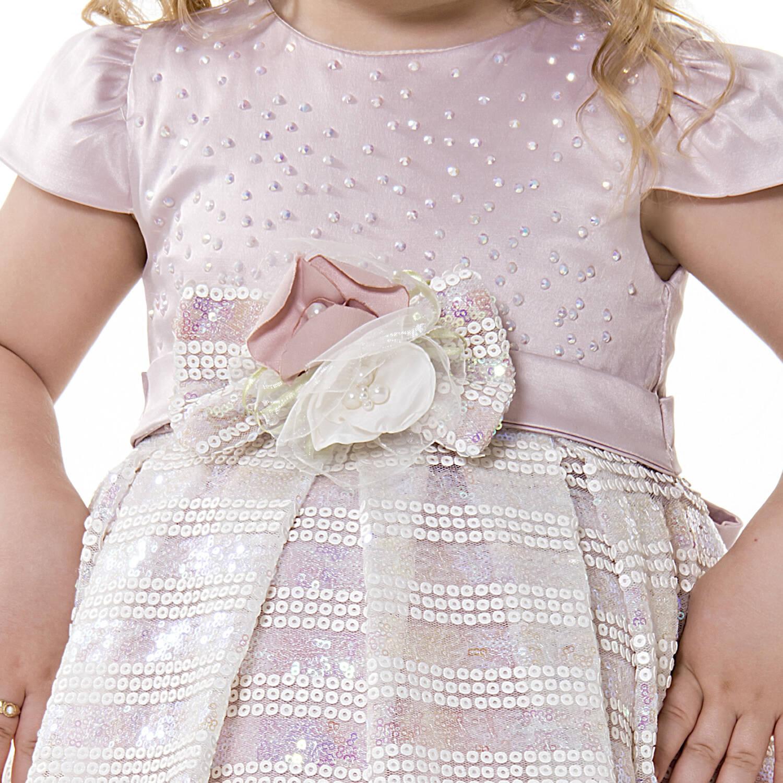 Vestido Festa com Tecido Paetê Luxo