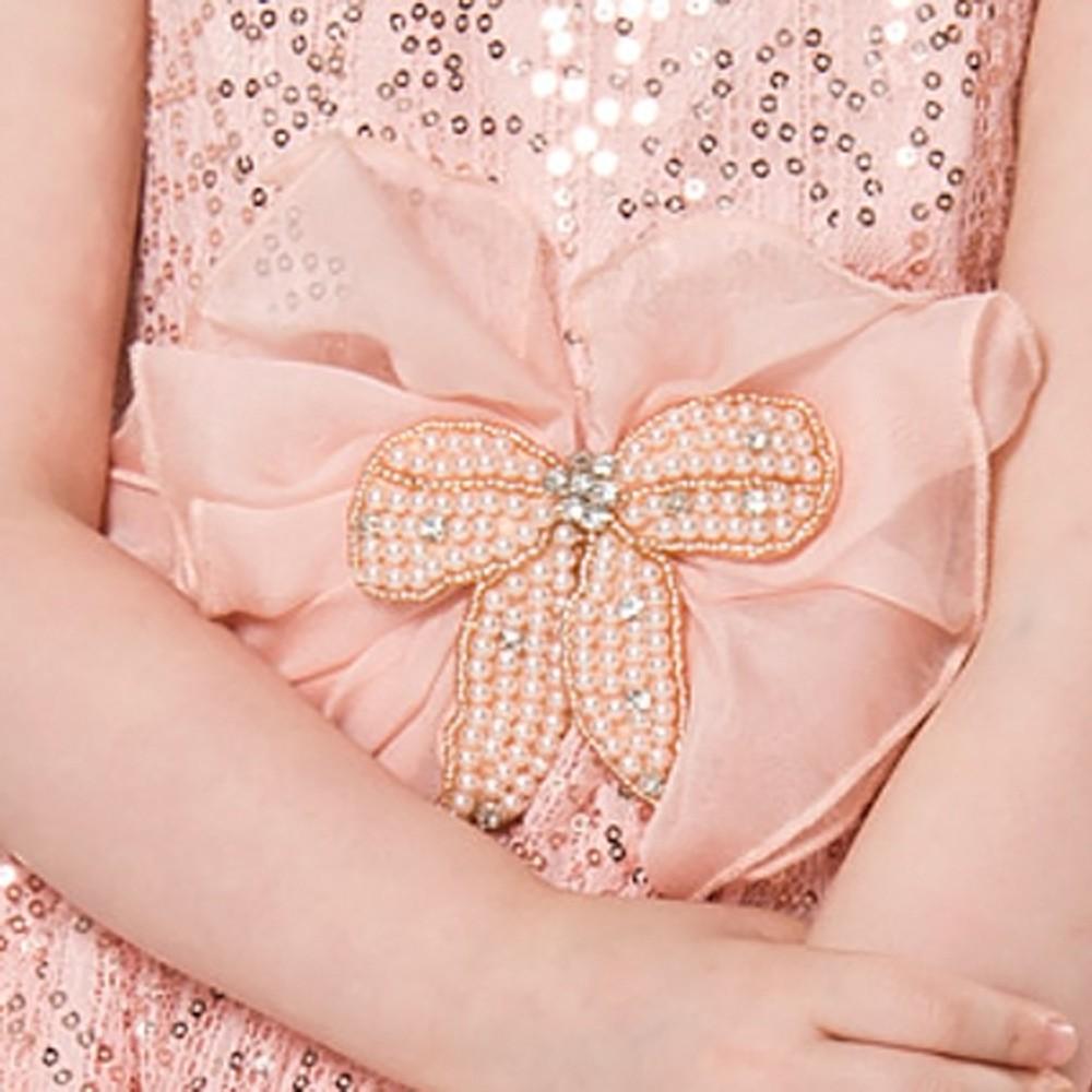 Vestido Festa Paetê com Flor no Cinto