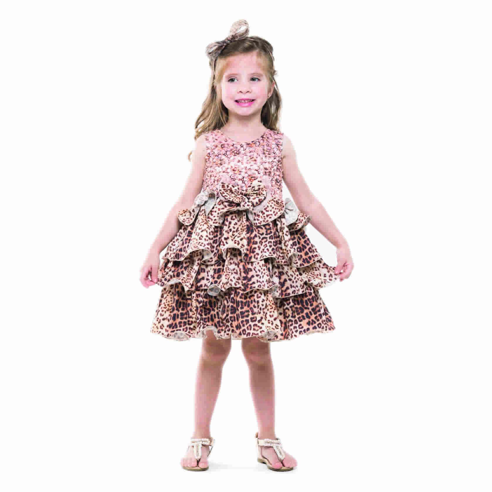 Vestido Festa Tigrado Petit Cherie