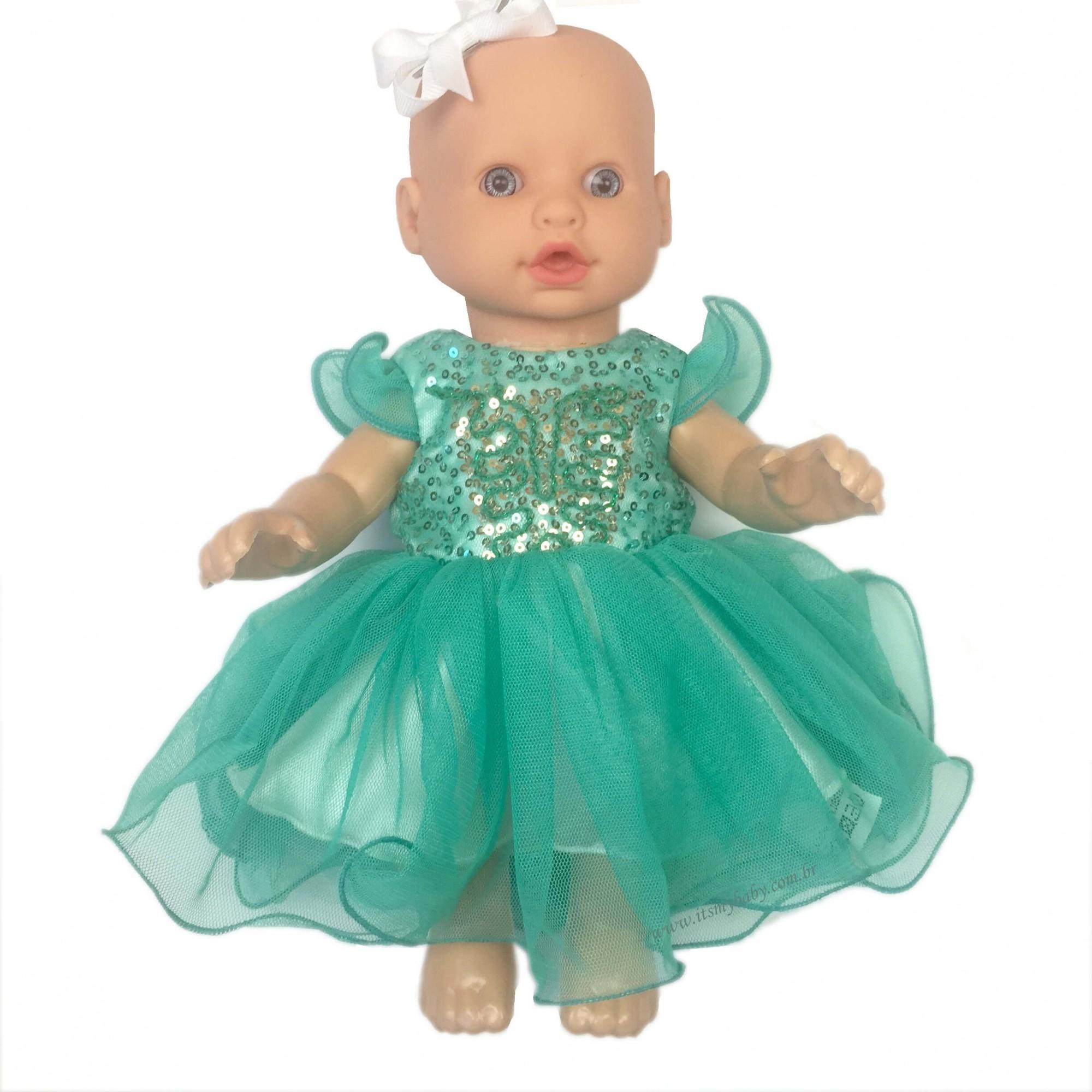 Vestido Festa Tule Boneca