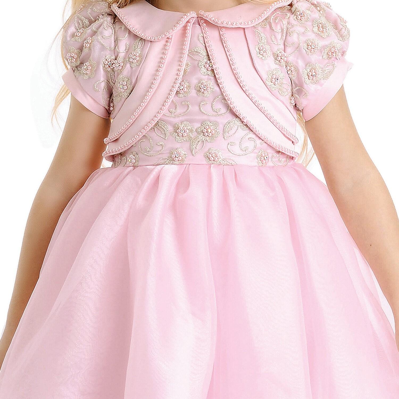Vestido Infantil Festa Rosa Petit Cherie