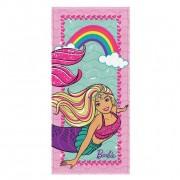 Toalha Felpuda de Banho Estampada Barbie Reinos Magicos 60 cm x 1,20 m