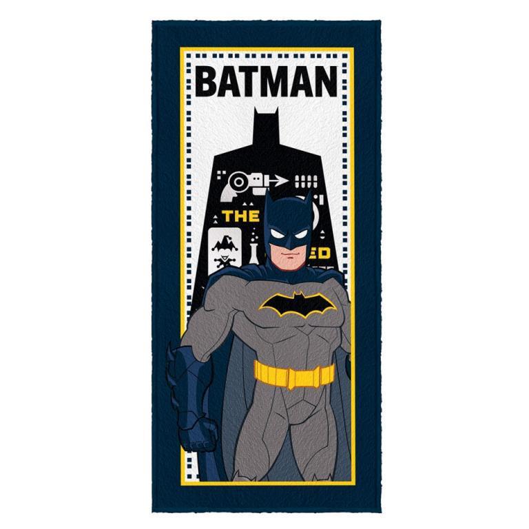 Toalha Felpuda de Banho Estampada Batman 4 - 60 cm x 1,20 m