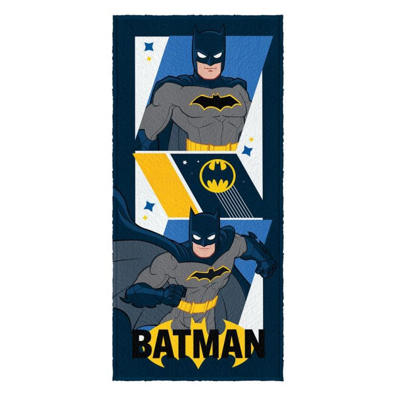Toalha Felpuda de Banho Estampada Batman 60 cm x 1,20 m