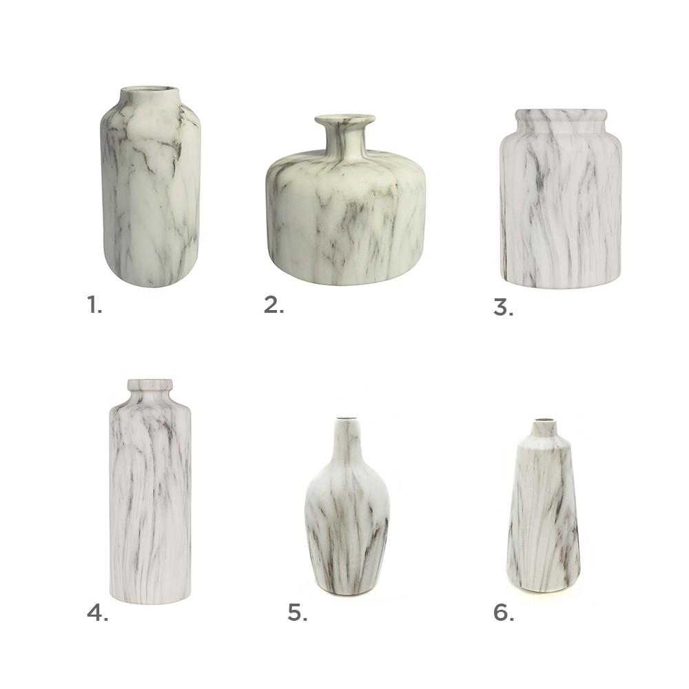 Vasos de Cerâmica Marmorizado