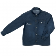 Camisa Jeans Clube do Doce New Times Escura