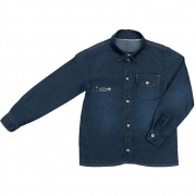 Camisa Jeans Clube do Doce New Times L. Escura