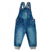 Jardineira Jeans Clube do Doce Glitter