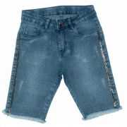 Shorts Jeans Clube do Doce Ciclista Kids