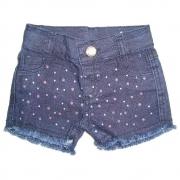 Shorts Jeans Clube do Doce Glitter Azul