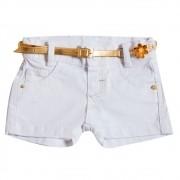 Shorts Sarja Clube do Doce Perla Branco