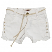 Shorts Sarja Clube do Doce Slim Ondas Bco