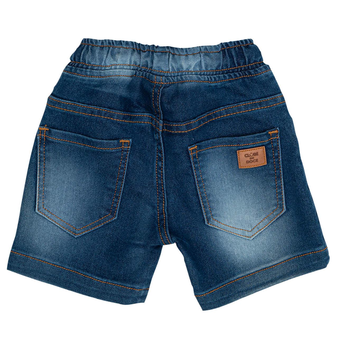 Bermuda Jeans Clube do Doce Cós Clube do Doce