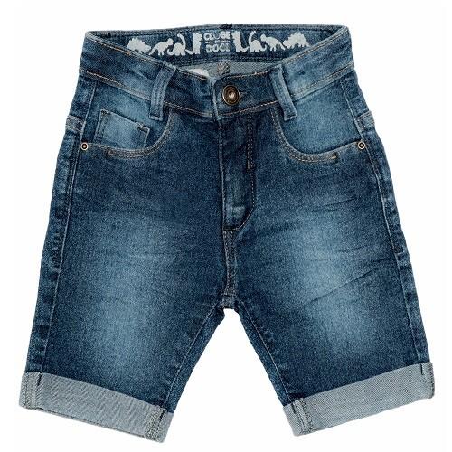 Bermuda Jeans Clube do Doce Dino Full