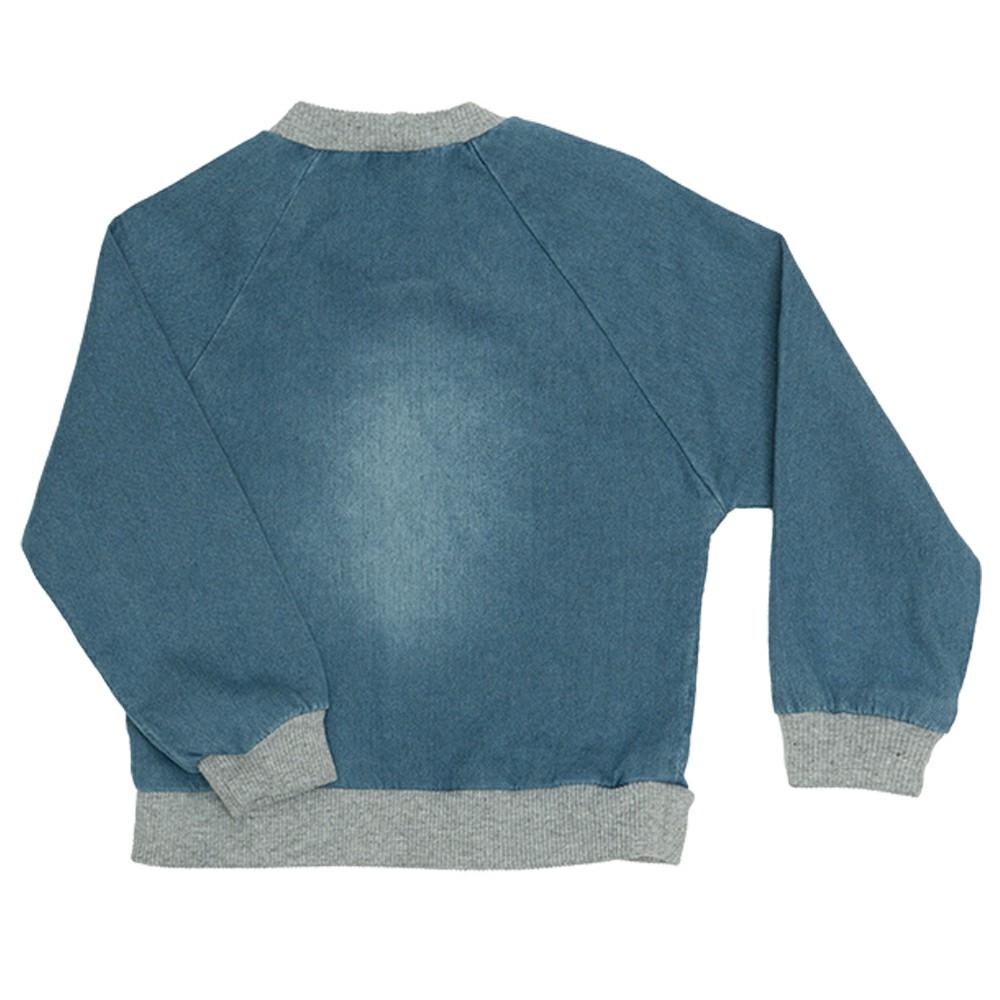 Blusa jeans Clube do Doce Urso Laço