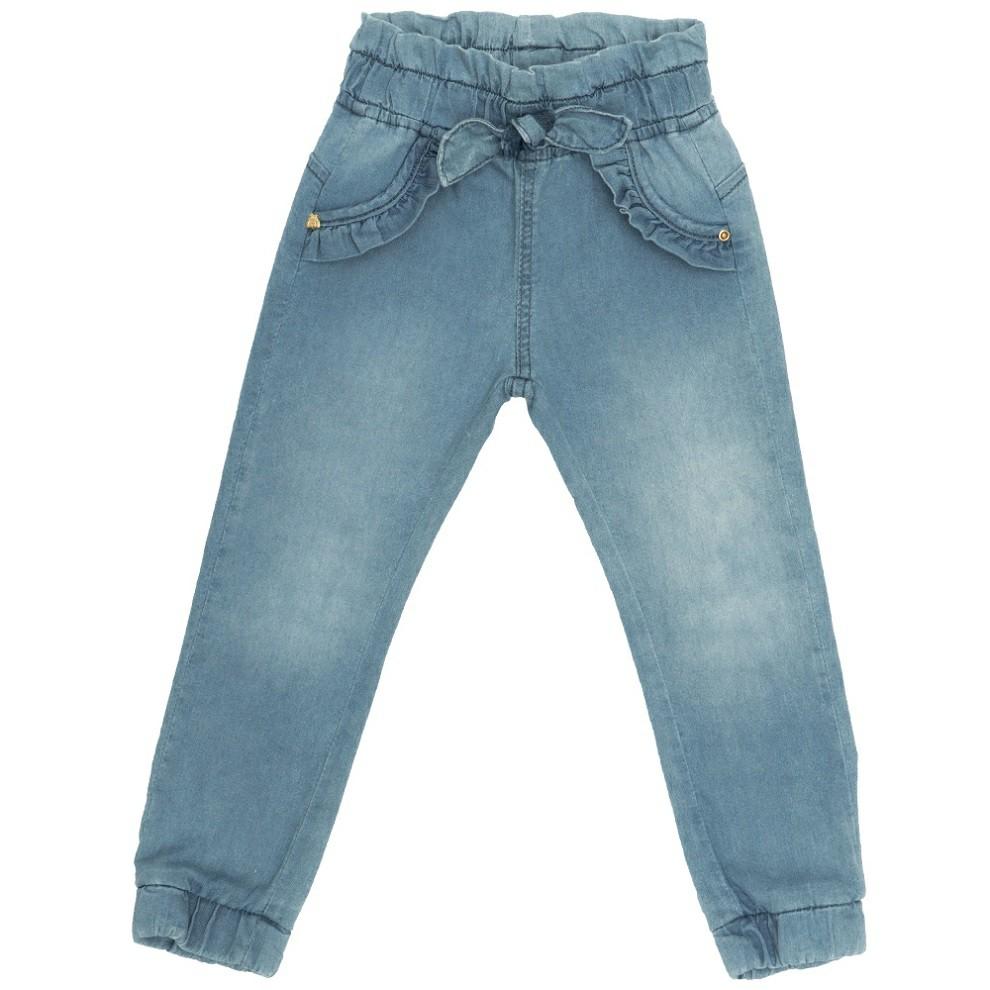 Calça Jeans Clube do Doce Babado Bolso