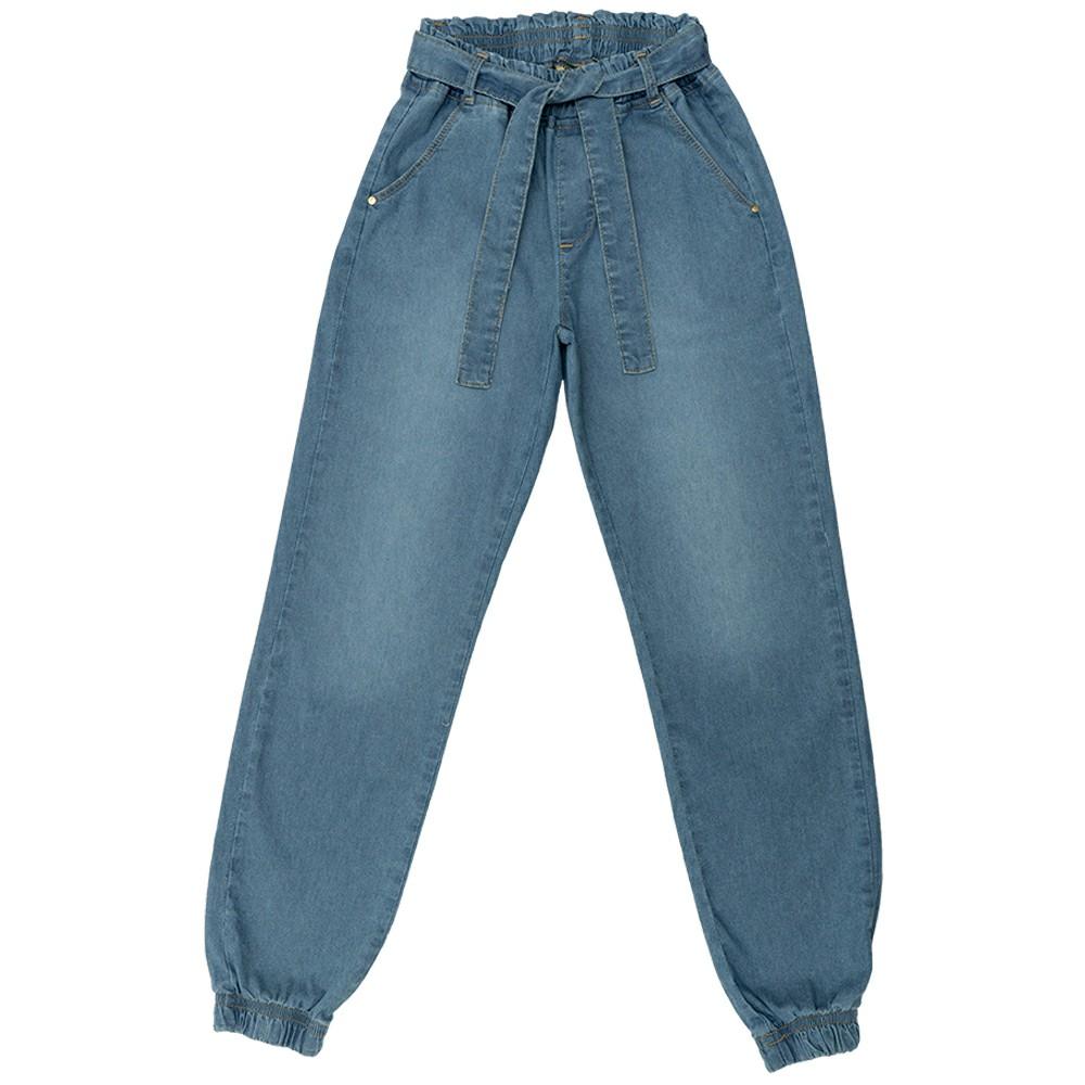 Calça Jeans Clube do Doce Jogger com Cinto