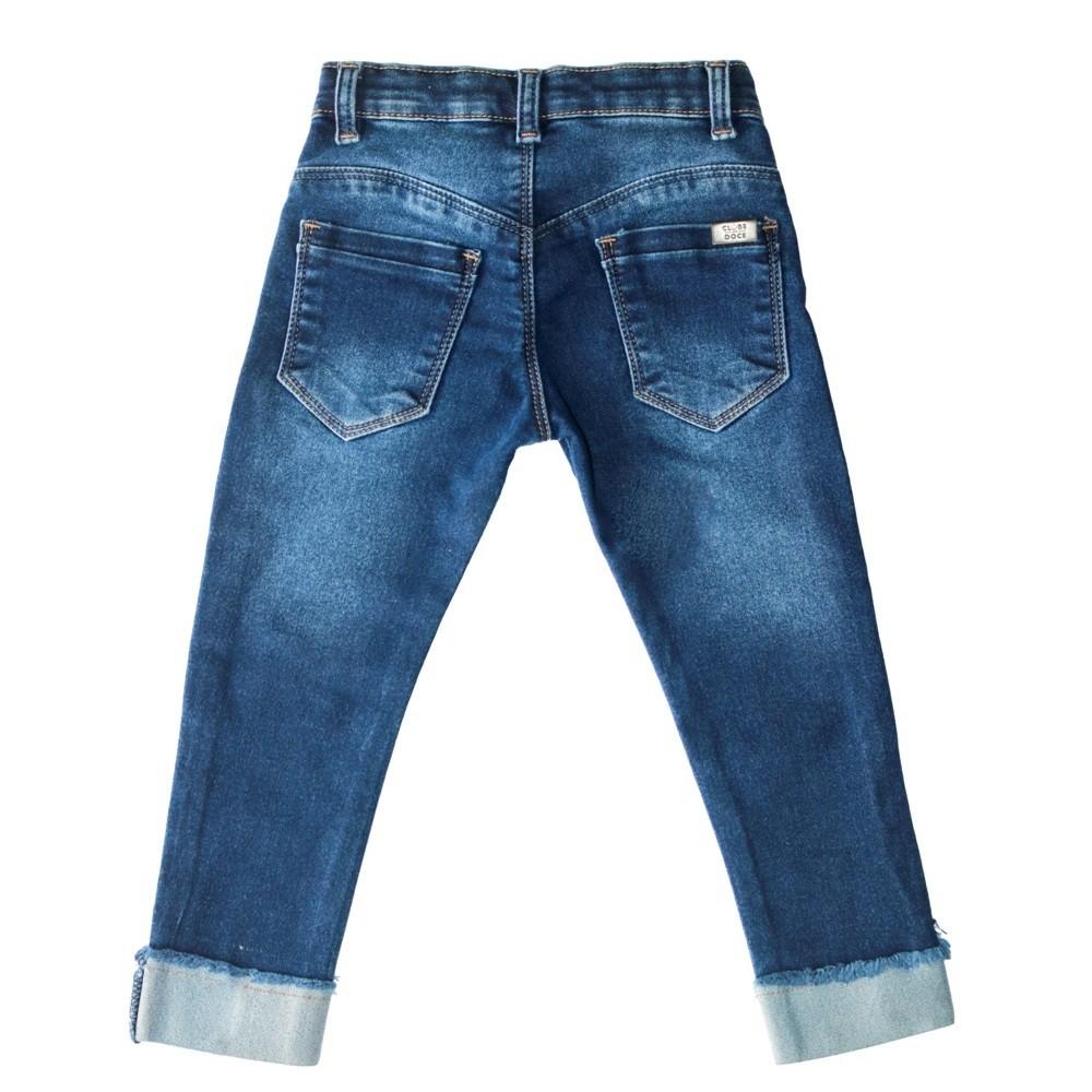 Calça Jeans Clube do Doce Skinny Strass