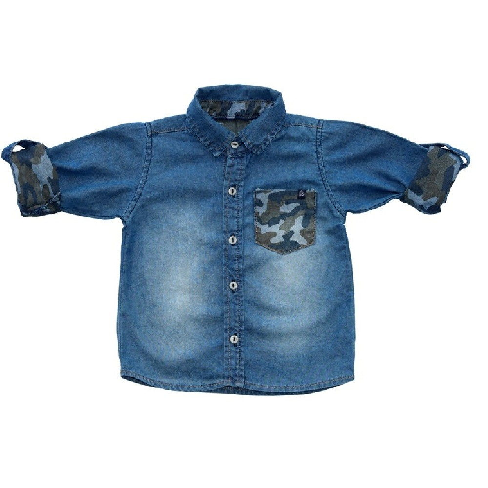 Camisa Jeans Clube do Doce Camuflado