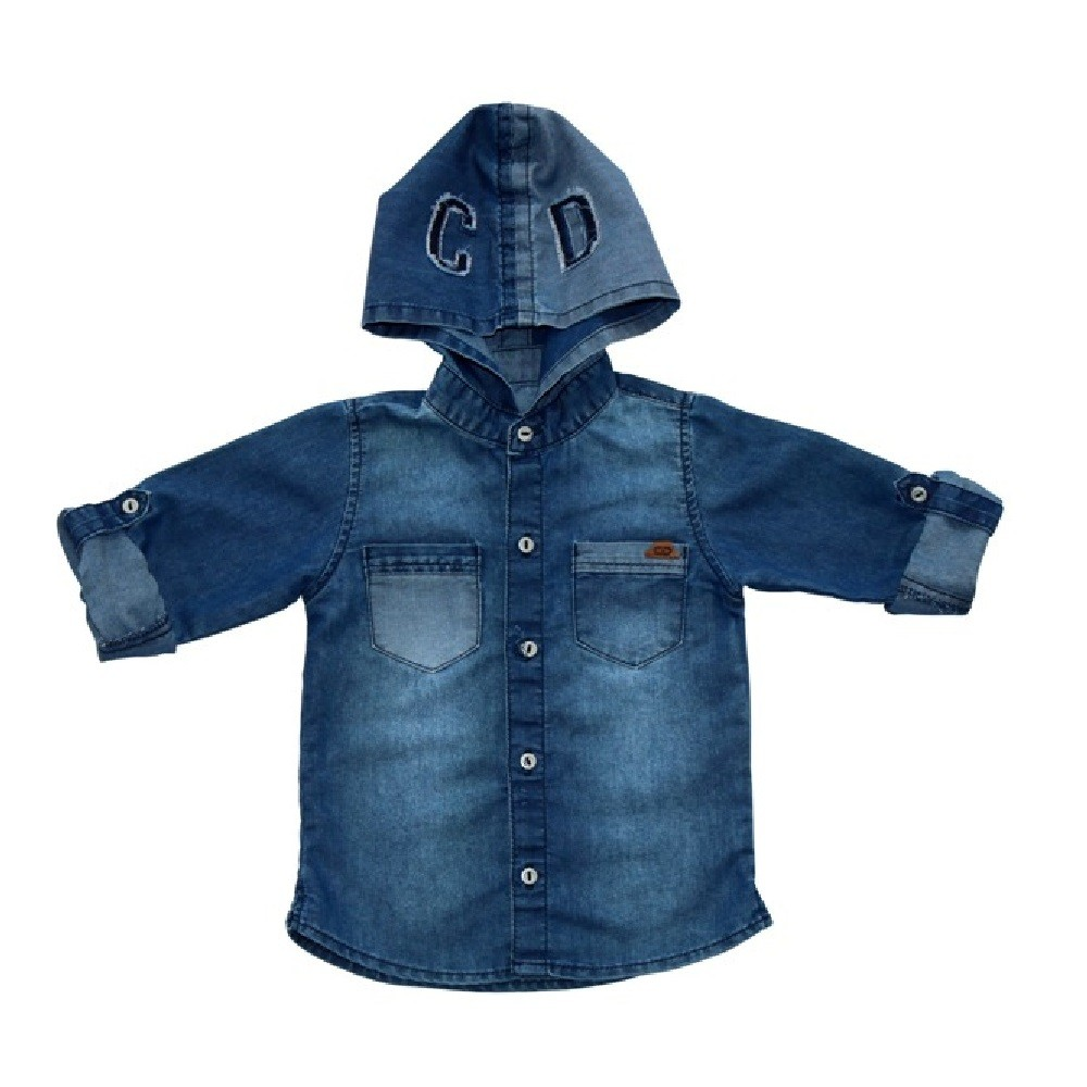 Camisa Jeans Clube do Doce Capuz CD