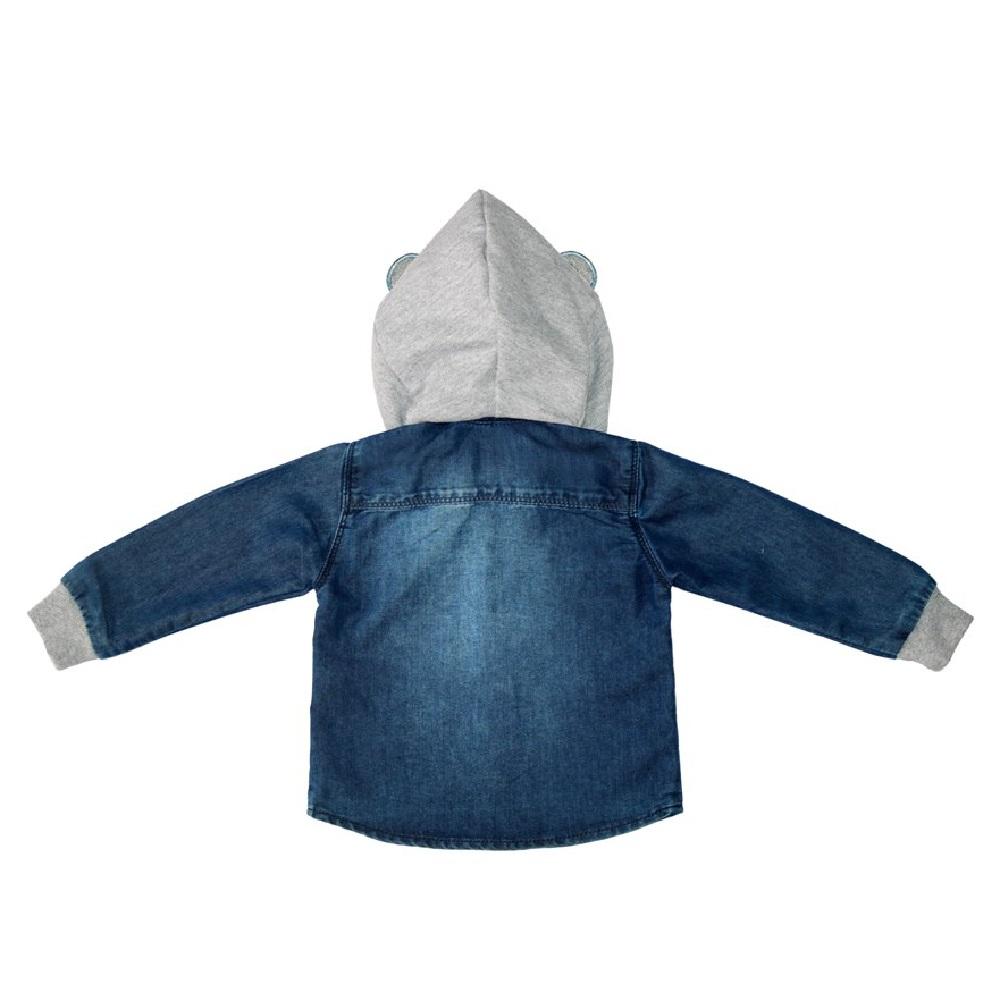 Camisa Jeans Clube do Doce Capuz Orelha