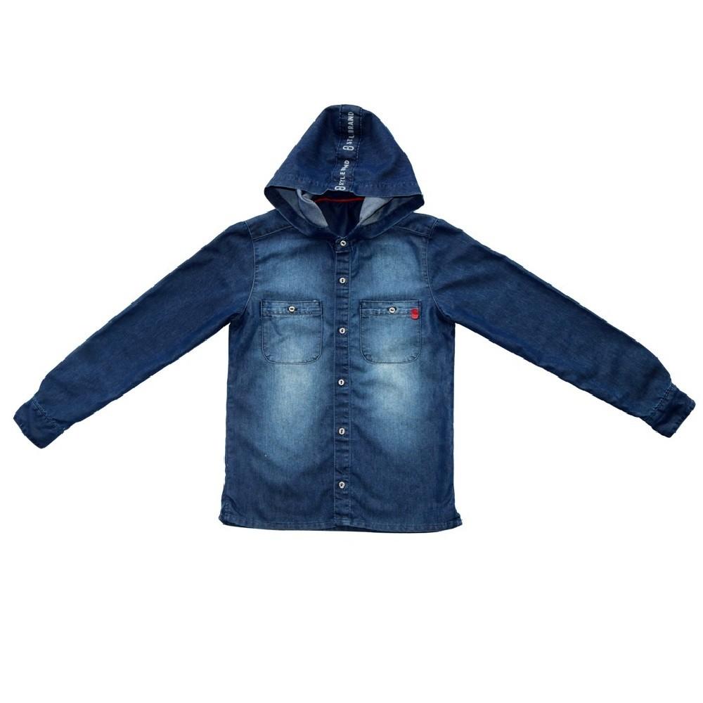 Camisa Jeans Clube do Doce Capuz Tira
