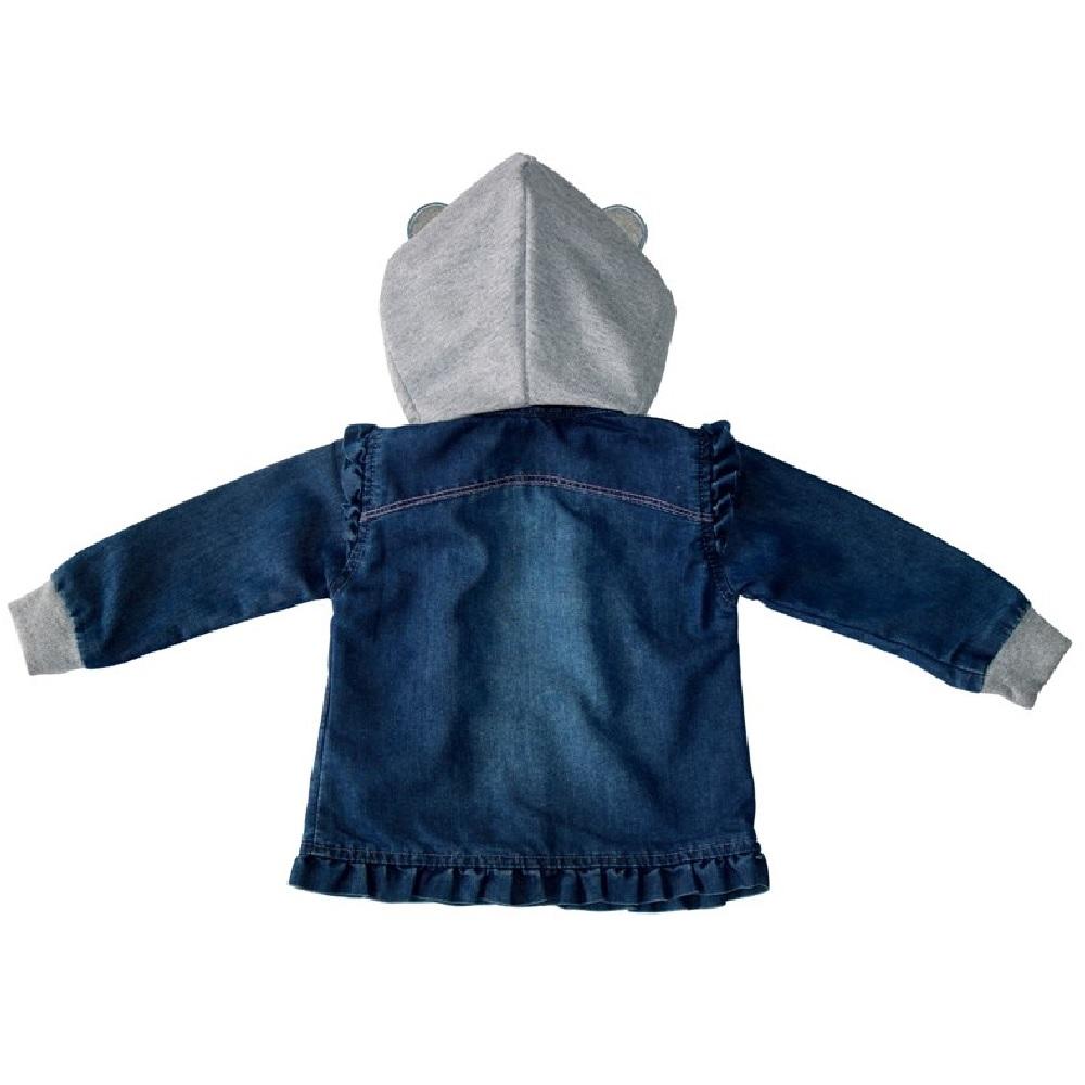 Camisa Jeans Clube do Doce Capuz Ursinho
