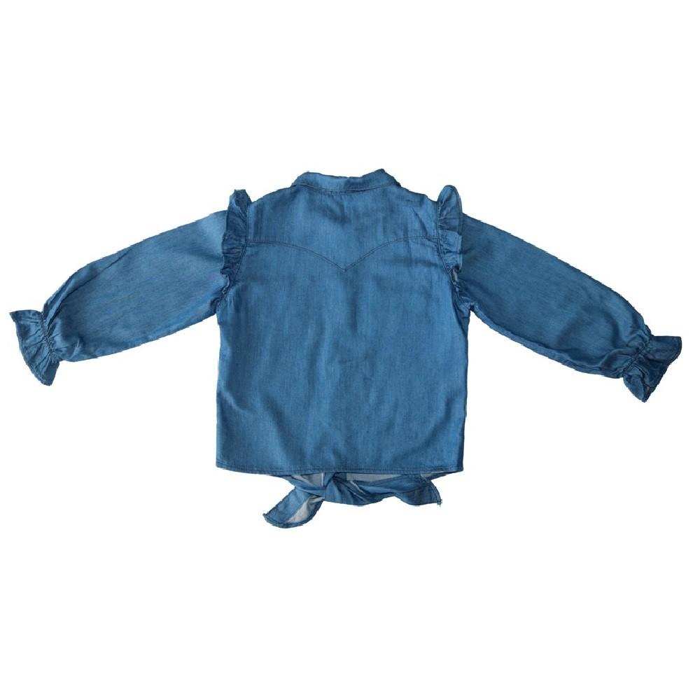 Camisa  Jeans Clube do Doce Laço