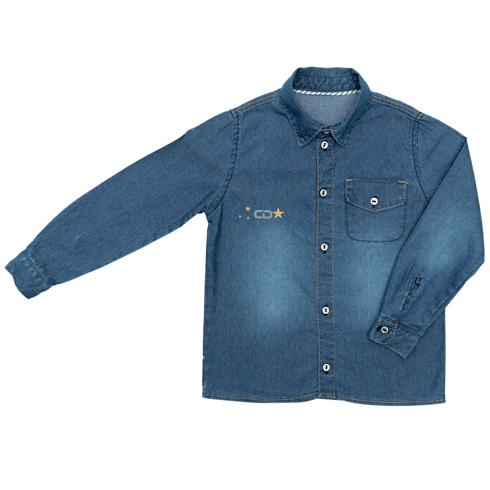Camisa Jeans Clube do Doce New Times Clara