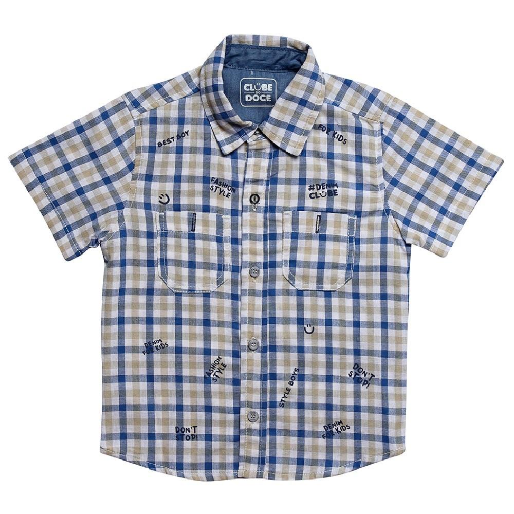 Camisa Tricoline Clube do Doce Xadrez Stamp