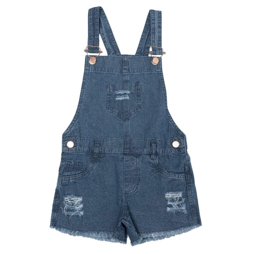 Jardineira Jeans Clube do Doce Basic